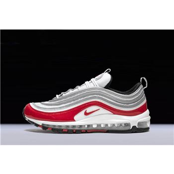 Nike Air Max 97 Pure Platinum University Red White Mens and Womens Size
