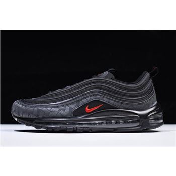 Nike Air Max 97 Reflective Logo Black University Red