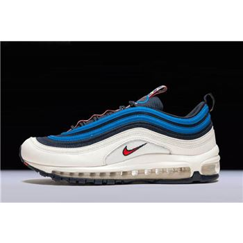 Nike Air Max 97 SE Pull Tab Obsidian University Red Sail Blue Nebula