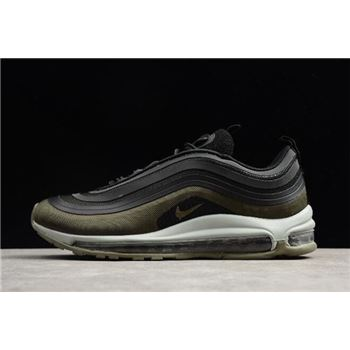 Nike Air Max 97 Ultra 17 Hot Air Velour Black Dark Hazel Medium Olive Light Pumice