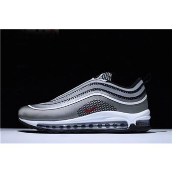 Nike Air Max 97 Ultra '17 Silver Bullet Metallic Silver/Varsity Red-Black 918356-003