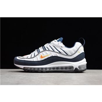 Nike Air Max 98 OG White Blue Orange Metallic Silver