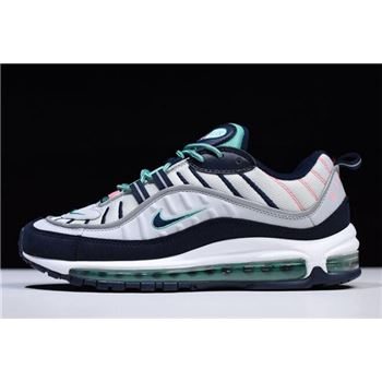 Nike Air Max 98 South Beach Pure Platinum Obsidian Kinetic Green