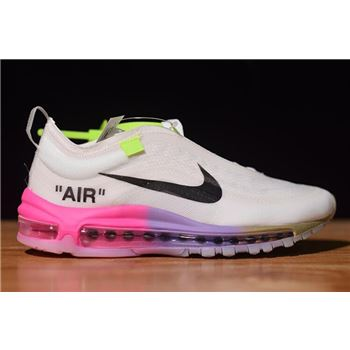 Off White x Nike Air Max 97 Queen Elemental Rose Barely Rose White Black