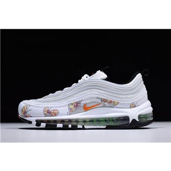 Womens Nike Air Max 97 Butterfly White Orange Shoes