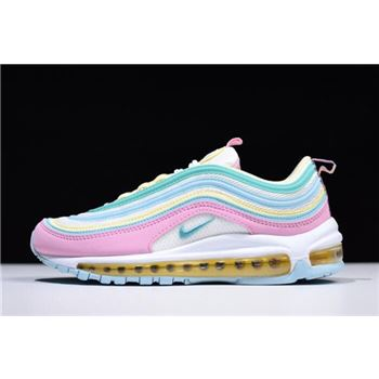 Womens Nike Air Max 97 Pink White Yellow Green