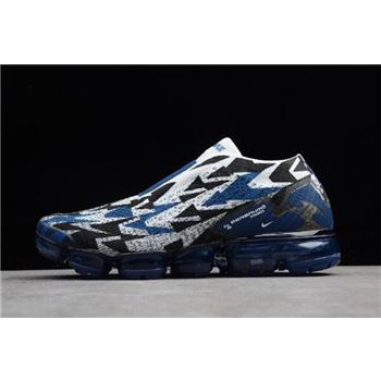 Acronym x Nike Air Vapormax FK Moc 2 Light Ashes Navy Blue White Black