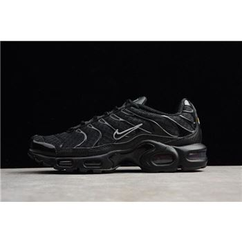 Mens Nike Air Max Plus Black Metallic Silver