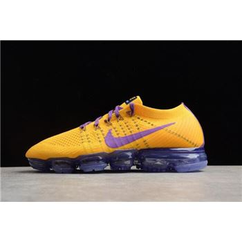 Men's Nike Air VaporMax Flyknit 2018 Lemon Yellow/Purple AA3858-104