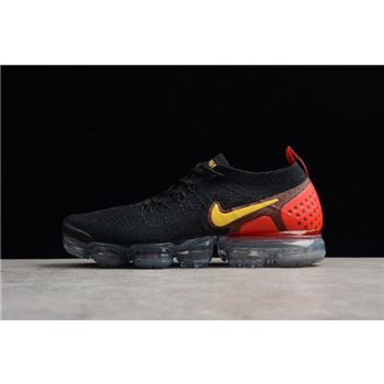 Men's Nike Air Vapormax Flyknit 2.0 Laser Orange Black/Laser Orange-Total Crimson 942842-005
