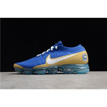 Men's NikeLab Air VaporMax Flyknit Sapphire Blue/White-Gold AA3858-103