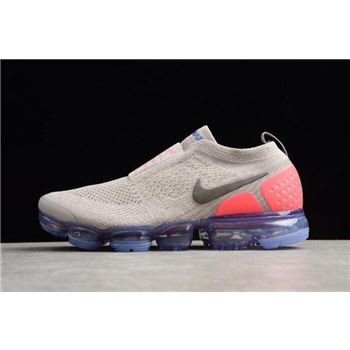Mens and WMNS Nike Air VaporMax Flyknit Moc 2 Moon Particle Solar Red Indigo Burst