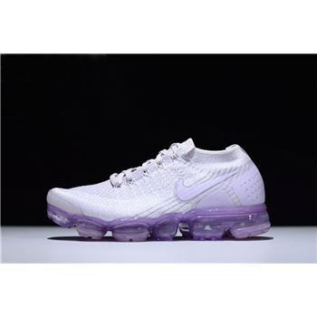 New Fashion Nike Air VaporMax Flyknit 2.0 Light Violet/White Women's Running Shoes