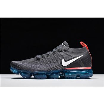 Nike Air VaporMax Flyknit 2 0 Thunder Grey White Bright Crimson