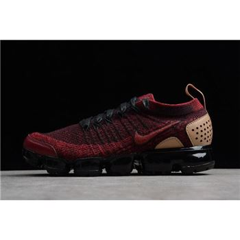 Nike Air VaporMax Flyknit 2 NRG Team Red Black Vachetta Tan