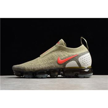 Nike Air VaporMax Moc 2 Neutral Olive Habanero Red