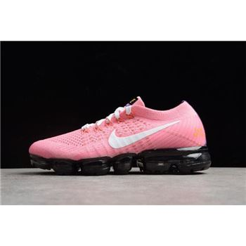 Nike Women's Air Vapormax Flyknit 2.0 ID Custom Pink White-Black AA3859-017