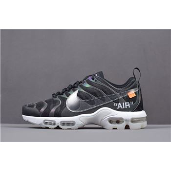 Off White x Nike Air Max Plus TN Ultra Iridescent Mens Size