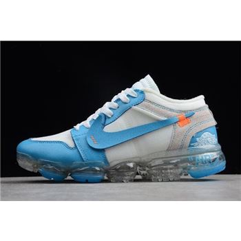 Off-White x Nike Air VaporMax x Air Jordan 1 High OG UNC White/Cone-Dark Powder Blue AA3839-002
