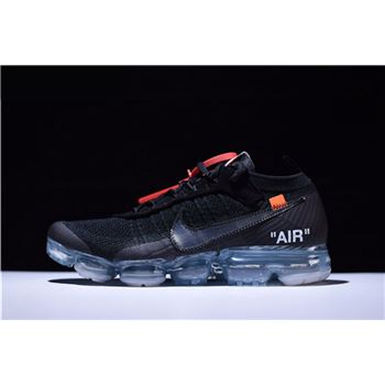 Virgil Ablohs Off White x Nike Air VaporMax Black Total Crimson Clear
