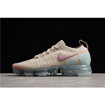 Women's Nike Air Vapormax Flyknit 2. 0 Particle Beige Somkey Mauve 942843-203