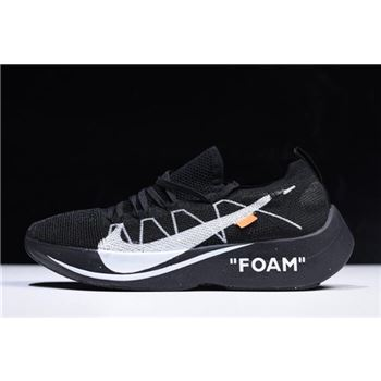 2018 Off-White x Nike Vapor Street Flyknit Black/Anthracite-White AQ1763-001