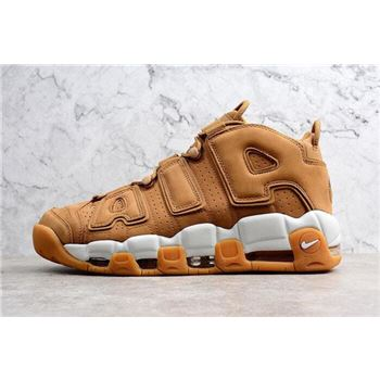 Mens Nike Air More Uptempo PRM Wheat Flax Flax Gum Light Brown