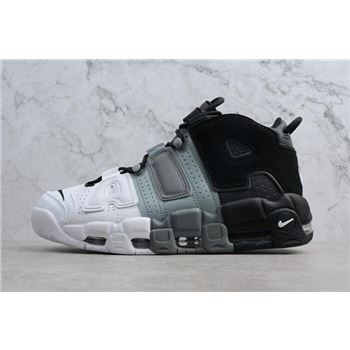 Mens Nike Air More Uptempo Tri Color Black Cool Grey White