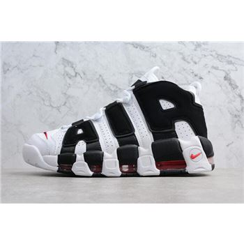 Mens and Womens Nike Air More Uptempo Scottie Pippen PE White Black Varsity Red