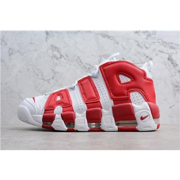 Mens and Womens Nike Air More Uptempo White Gym Red