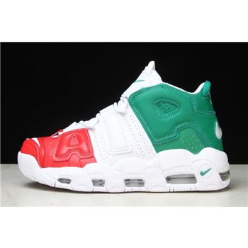 Nike Air More Uptempo 96 Italy QS University Red Lucid Green White