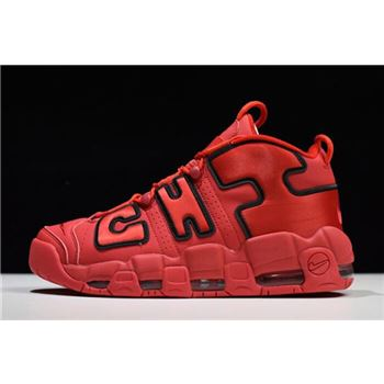 Nike Air More Uptempo Chi QS Chicago University Red Black
