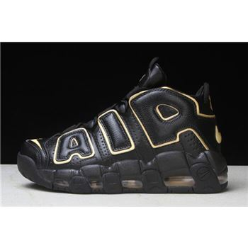Nike Air More Uptempo France Black Metallic Gold
