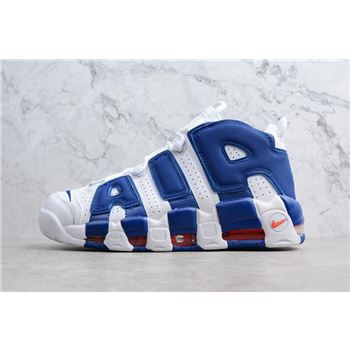 Nike Air More Uptempo Knicks White Deep Royal Blue Team Orange
