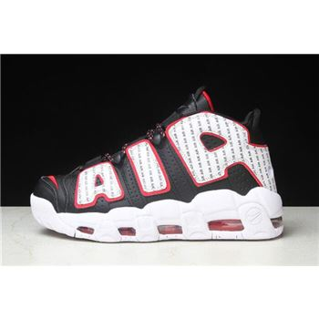Nike Air More Uptempo Pinstripe Black/White-University Red AV7947-001