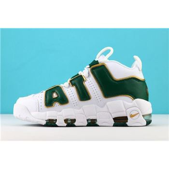 Nike Air More Uptempo QS Atlanta White Gorge Green Metallic Gold