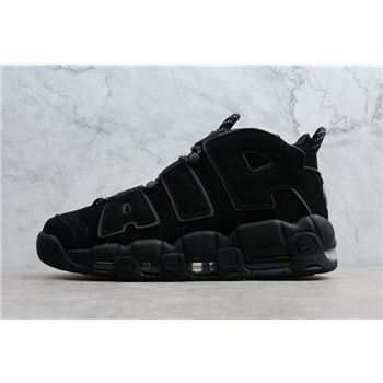Nike Air More Uptempo Triple Black Mens Size Shoes