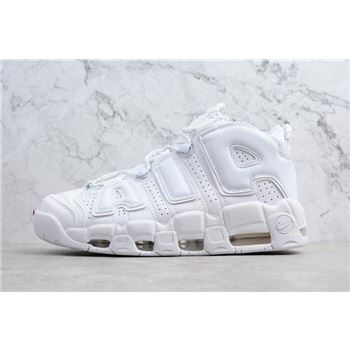 Nike Air More Uptempo Triple White Mens and Womens Size