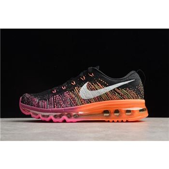 Nike WMNS Flyknit Max Black Sail Bright Magenta Atomic Orange