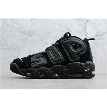 Supreme x Nike Air More Uptempo Black Black White