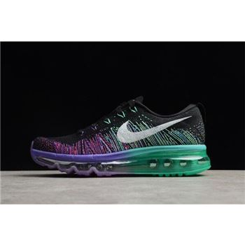 WMNS Nike Air Max Flyknit Black White Purple Venom Tribe Green