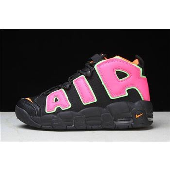 Womens Nike Air More Uptempo Black Hot Punch Volt