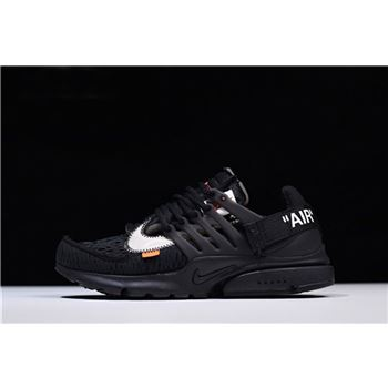 2018 Off White x Nike Air Presto Black White Cone
