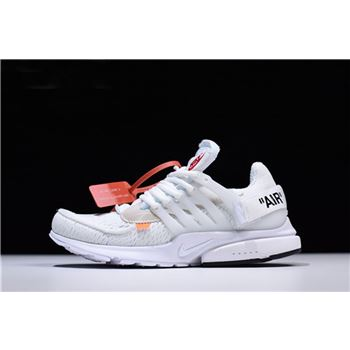 2018 Off White x Nike Air Presto White Black Cone
