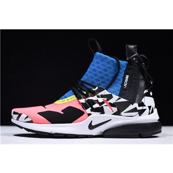 Acronym x Nike Air Presto Mid Racer Pink Black Photo Blue White