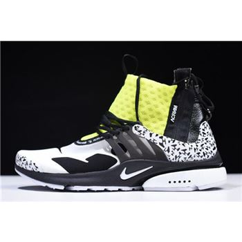 Acronym x Nike Air Presto Mid White Black Dynamic Yellow