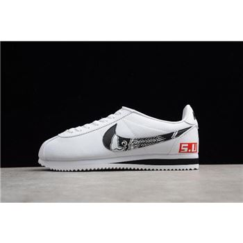 Mens Nike Classic Cortez Leather White Black