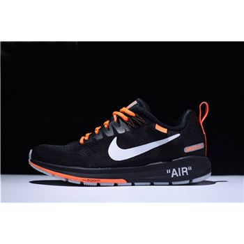 Mens Off White Virgil Abloh x Nike Air Zoom Structure 21 Black Orange White