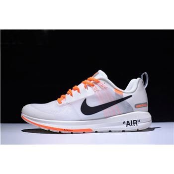 Mens Off White Virgil Abloh x Nike Air Zoom Structure 21 White