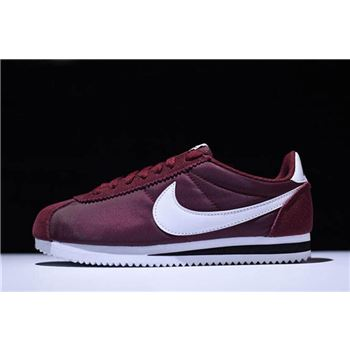 Mens and WMNS Nike Cortez Nylon Dark Team Red White Black